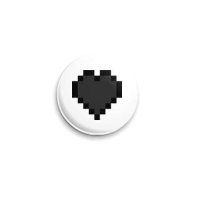 Значок 25мм Minecraft Empty-Heart