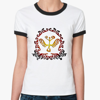 Женская футболка Ringer-T Etno