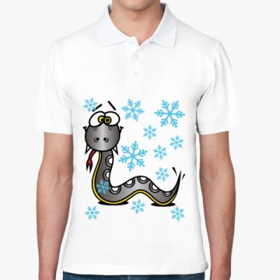 Рубашка поло Новогодняя змея