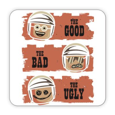 Костер (подставка под кружку) Лего - хороший, плохой, злой