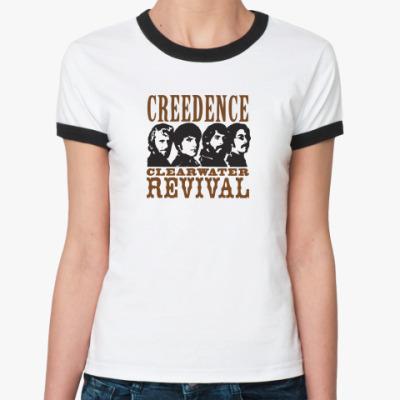 Женская футболка Ringer-T Я люблю Creedence