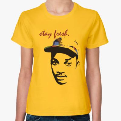 Женская футболка Оставайся свежим