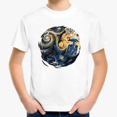 Детская футболка Тардис Ван Гог
