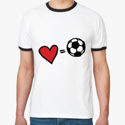 Футболка Ringer-T Love equals football