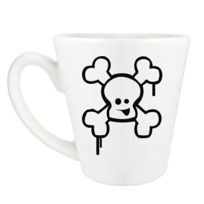 Чашка Латте Веселый череп