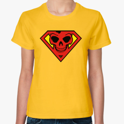 Женская футболка Skull Superman