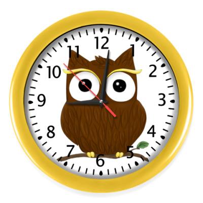 Настенные часы Любопытный совёнок