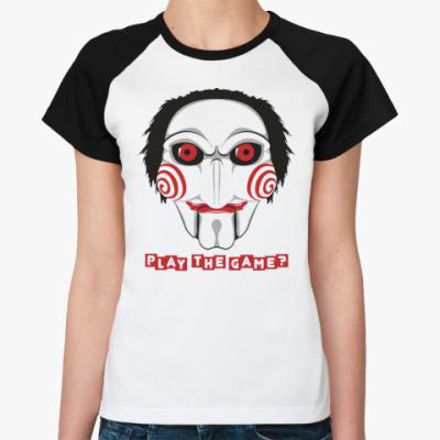 Женская футболка реглан  «Пила»