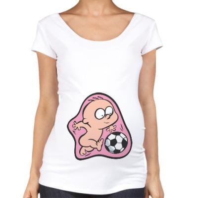 Футболка для беременных Футболист
