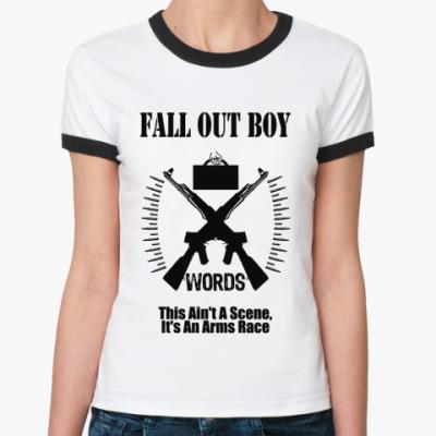 Женская футболка Ringer-T FOB words  Ж()