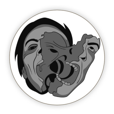 Костер (подставка под кружку) «Нечто» и мутация лица