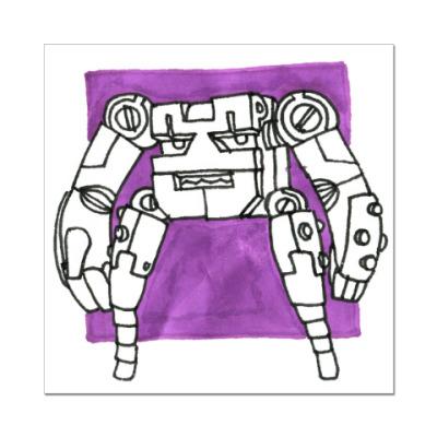 Наклейка (стикер) Пурпурный Победитель