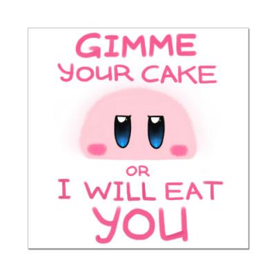 Наклейка (стикер) Kirby: Cake or Life