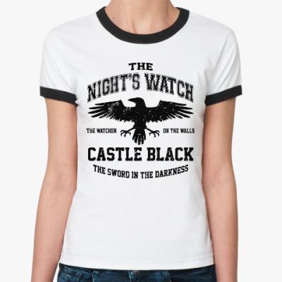 Женская футболка Ringer-T Игра престолов.Ночной дозор