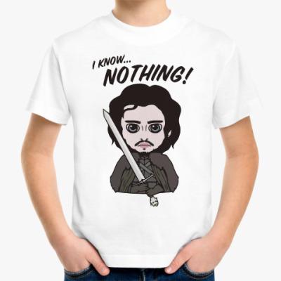 Детская футболка Я ничего не знаю
