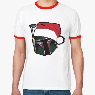 Футболка Ringer-T Christmas Boba