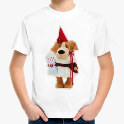 Детская футболка Новогодняя собачка