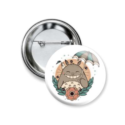 Значок 37мм Smile Totoro