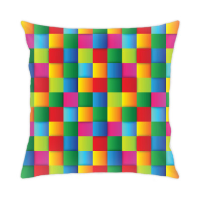 Подушка Яркие квадраты