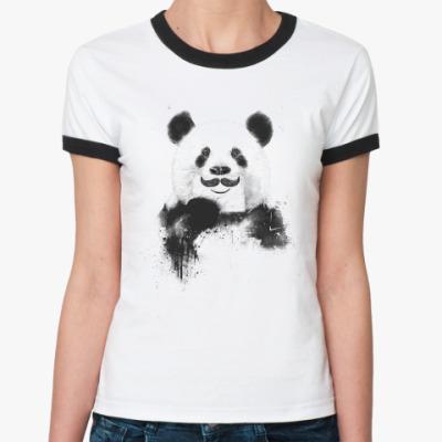 Женская футболка Ringer-T Панда с усами