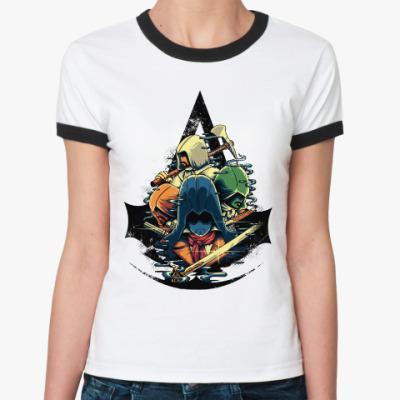 Женская футболка Ringer-T Ассасин