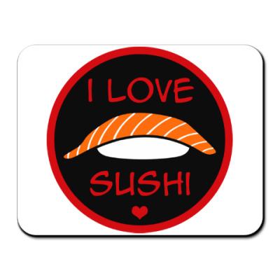 Коврик для мыши Я люблю суши
