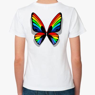Классическая футболка Крылья-радуга