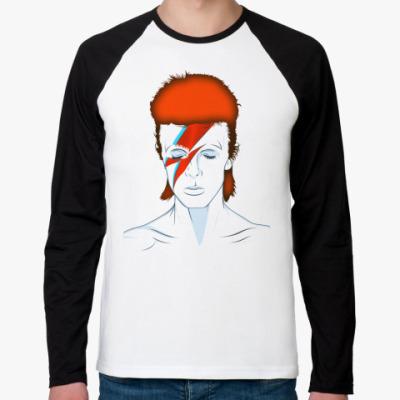 Футболка реглан с длинным рукавом David Bowie