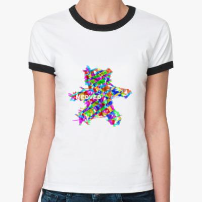 Женская футболка Ringer-T MEDVED COLOR