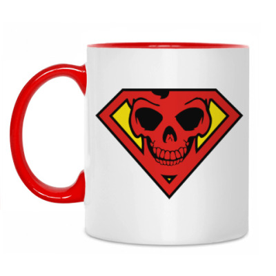 Кружка Skull Superman