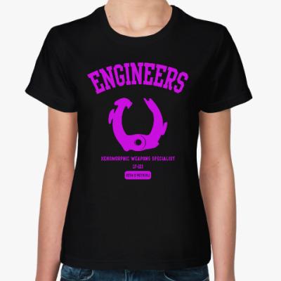 Женская футболка Чужой. Инженеры
