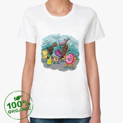 Женская футболка из органик-хлопка Слава