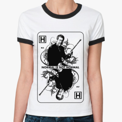 Женская футболка Ringer-T House Ace