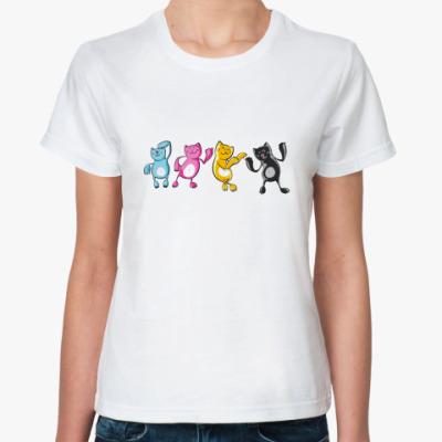 Классическая футболка Dancing Cats