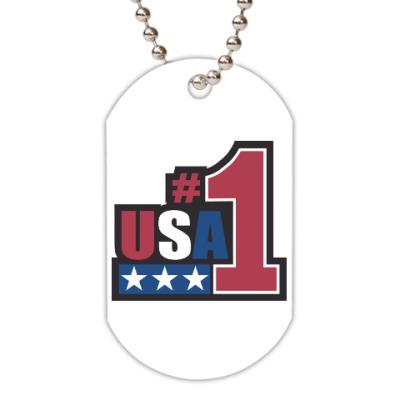 Жетон dog-tag USA 1