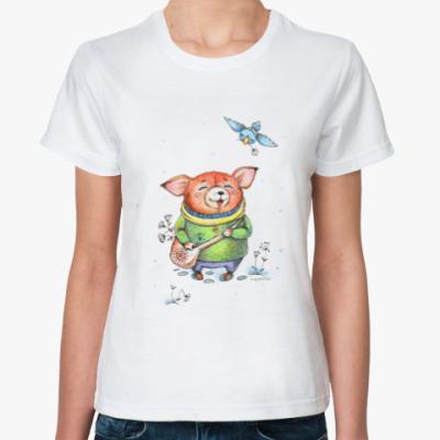 Классическая футболка По снегу