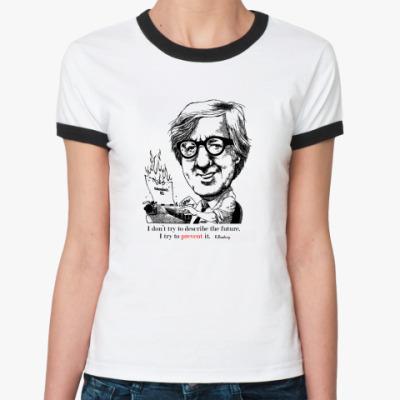 Женская футболка Ringer-T Брэдбери