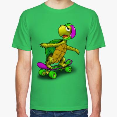 Футболка Черепаха на скейте