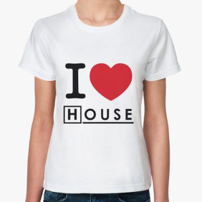 Классическая футболка I heart House Жен