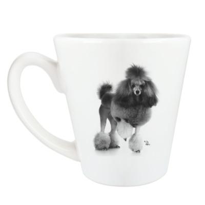 Чашка Латте пудель