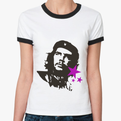 Женская футболка Ringer-T Che Guevara