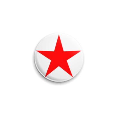 Значок 25мм Red Star  25 мм