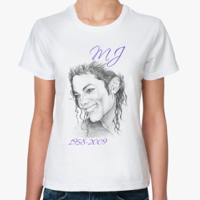 Классическая футболка М. Джексон