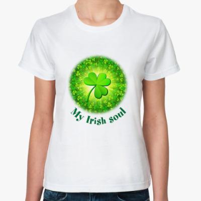 Классическая футболка My Irish soul