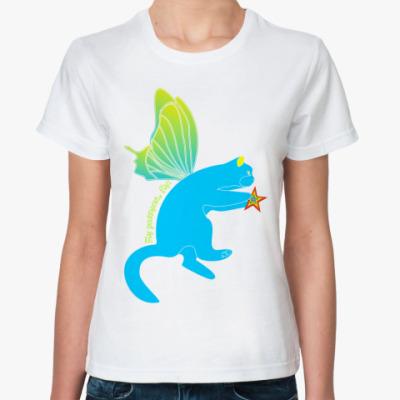 Классическая футболка Флайпусик небесный