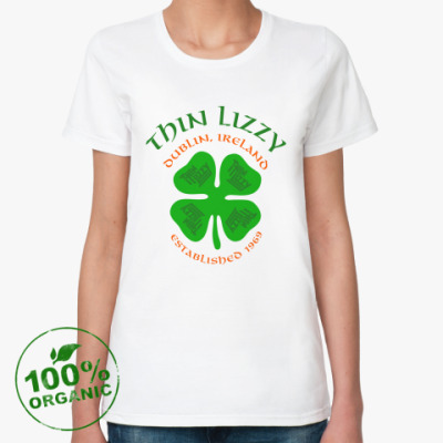 Женская футболка из органик-хлопка Thin Lizzy