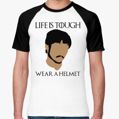 Футболка реглан  Wear a helmet