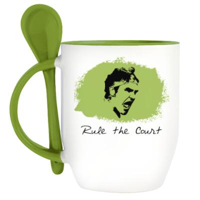Кружка с ложкой Федерер - Управляй кортом