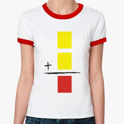 Женская футболка Ringer-T  Красная карточка