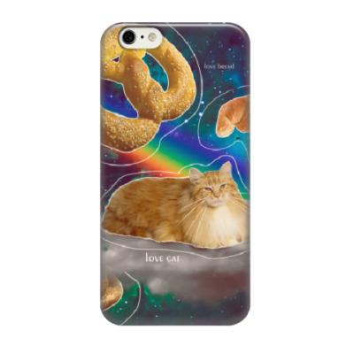 Чехол для iPhone 6/6s Космический кот на облаке